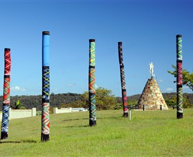 Maclean Tartan Power Poles - Attractions Melbourne