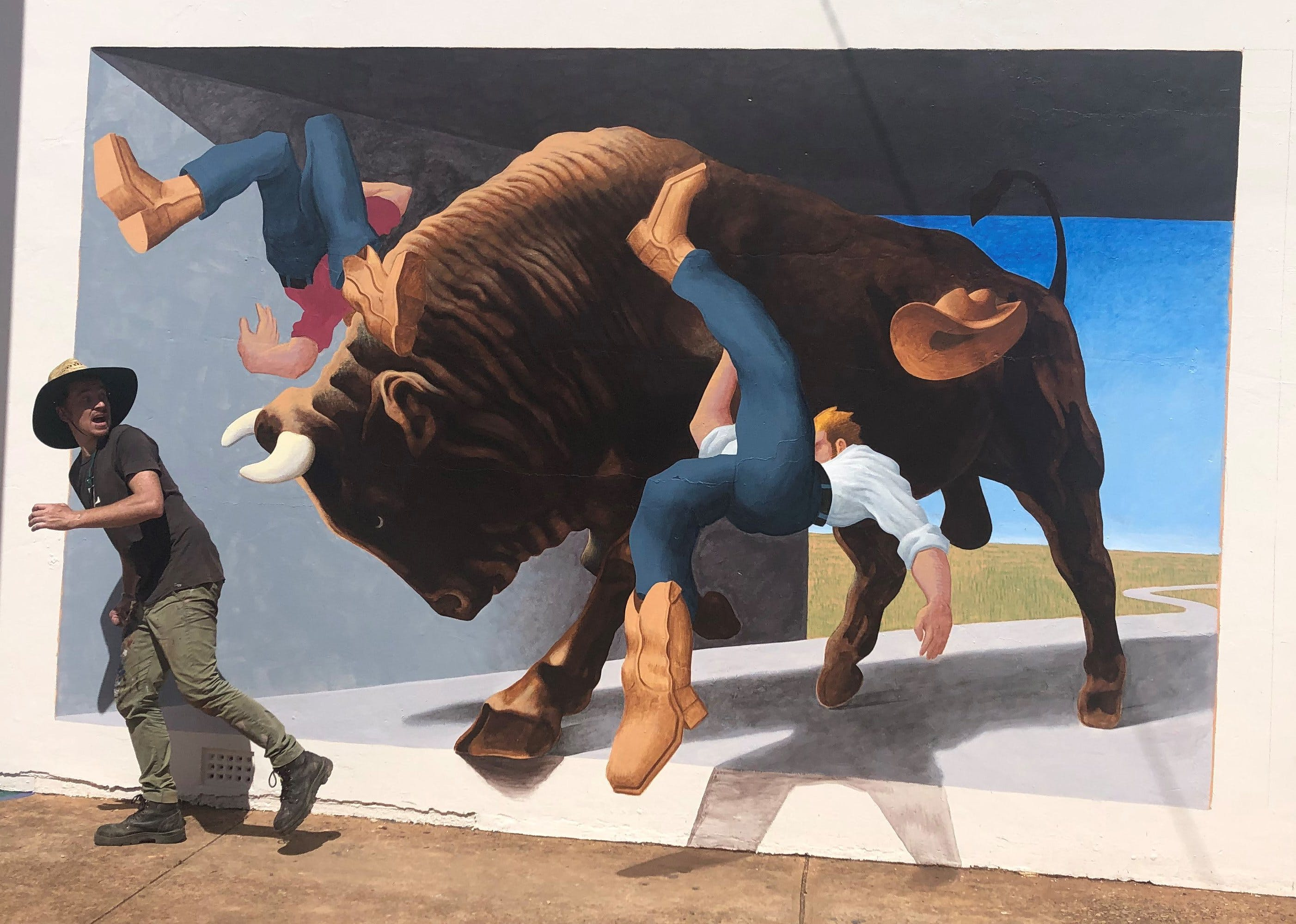 Big Bull Mural - Attractions Melbourne